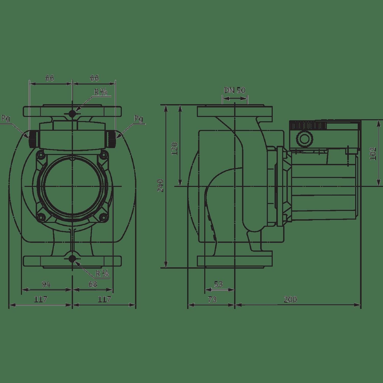 Циркуляционный насос Wilo TOP-S 50/4 (1~230 V, PN 6/10)