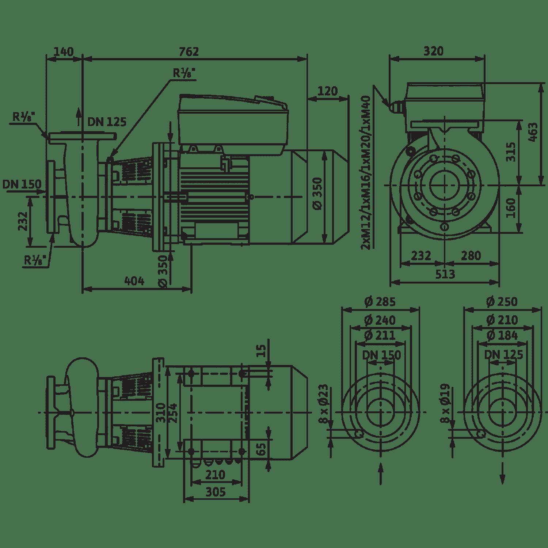 Блочный насос Wilo CronoBloc-BL-E 125/225-11/4-R1