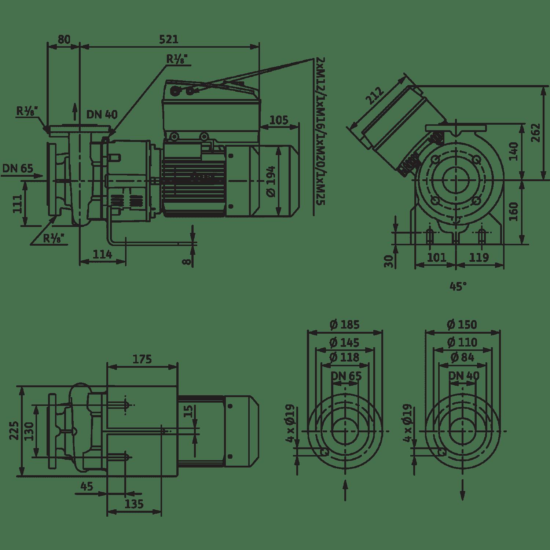 Блочный насос Wilo CronoBloc-BL-E 40/130-3/2-R1