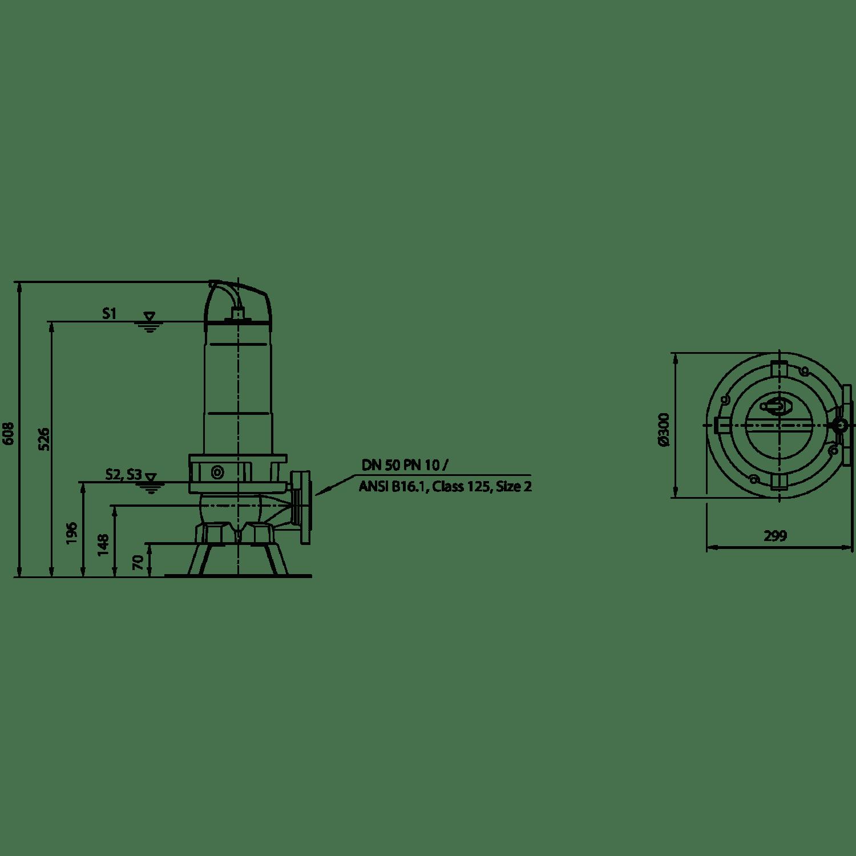 Фекальный насос Wilo Rexa FIT V05DA-126/EAD1-2-T0015-540-A