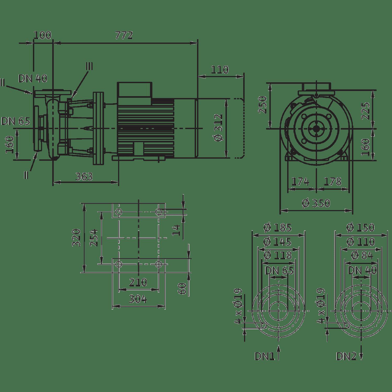 Блочный насос Wilo CronoBloc-BL 40/230-18,5/2