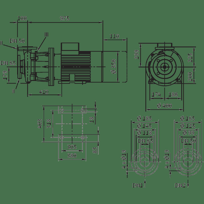 Блочный насос Wilo CronoBloc-BL 50/260-37/2