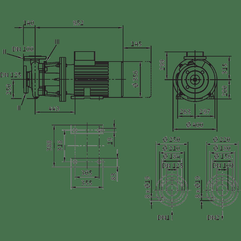 Блочный насос Wilo CronoBloc-BL 100/345-30/4