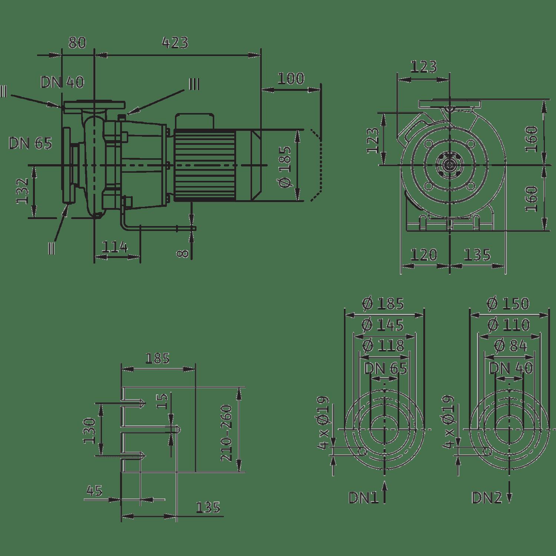 Блочный насос Wilo CronoBloc-BL 40/150-0,55/4