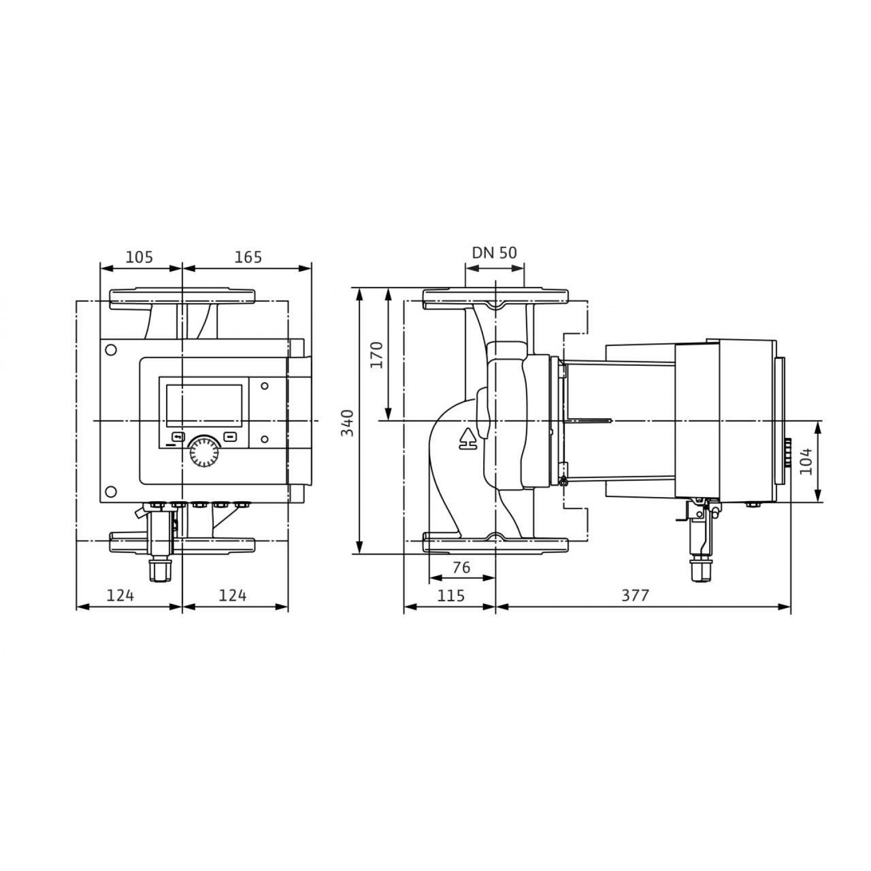 Циркуляционный насос Wilo Stratos MAXO 50/0,5-16