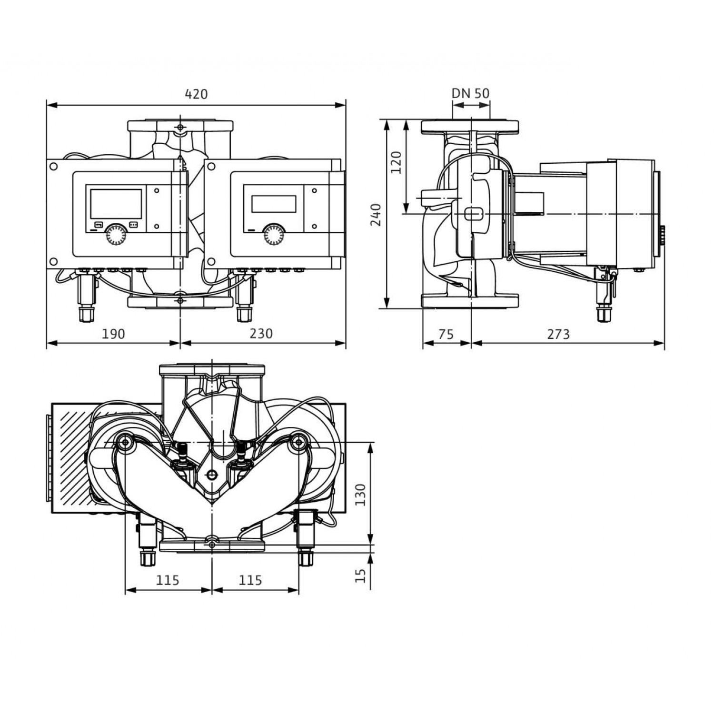 Циркуляционный насос Wilo Stratos MAXO-D 50/0,5-6 10 bar