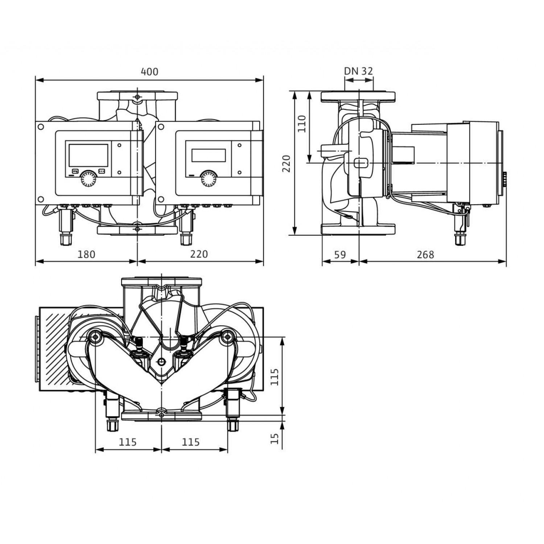 Циркуляционный насос Wilo Stratos MAXO-D 32/0,5-12 16 bar