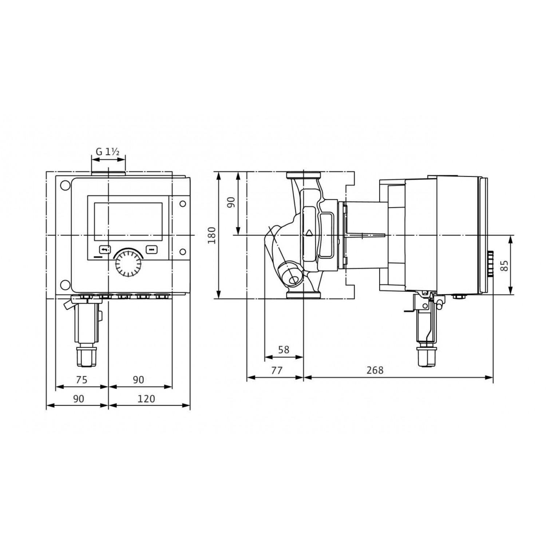 Циркуляционный насос  Wilo Stratos MAXO-Z 25/0,5-12 PN16