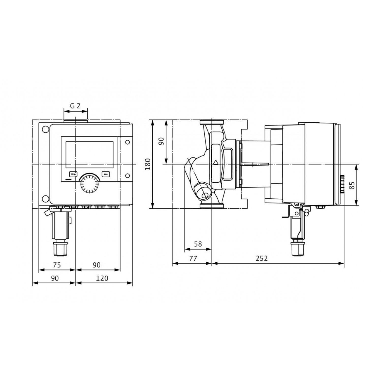 Циркуляционный насос Wilo Stratos MAXO-Z 30/0,5-8 16 bar