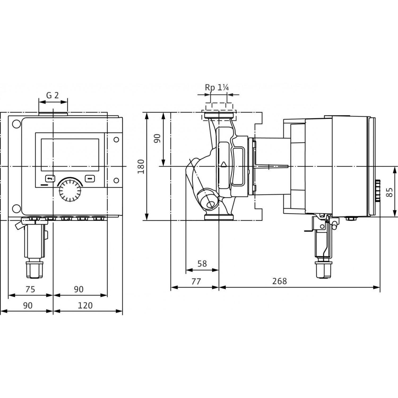 Циркуляционный насос Wilo Stratos MAXO-Z 30/0,5-12 16 bar
