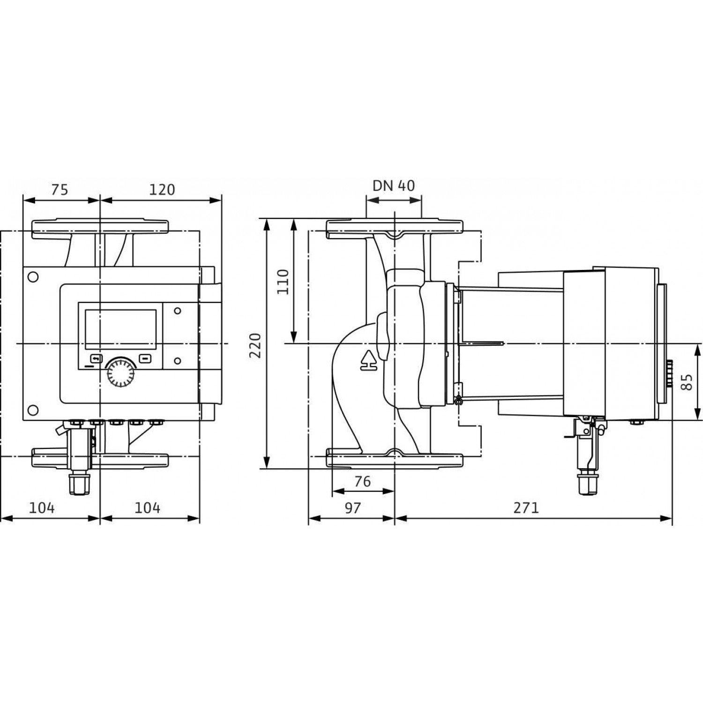 Циркуляционный насос Wilo Stratos MAXO-Z 40/0,5-8 16 bar