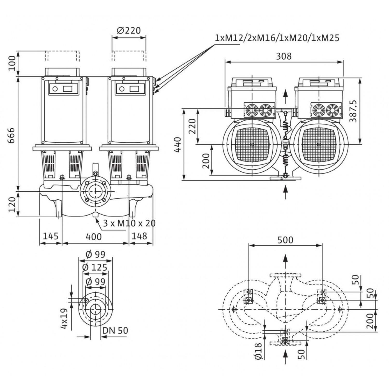 Циркуляционный насос Wilo Stratos GIGA-D 50/4-53/11-R1