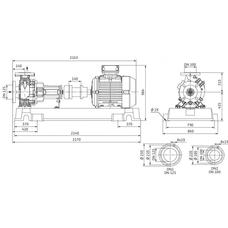 Одноступенчатый насос Wilo Atmos GIGA-N 100/315.1-200/2