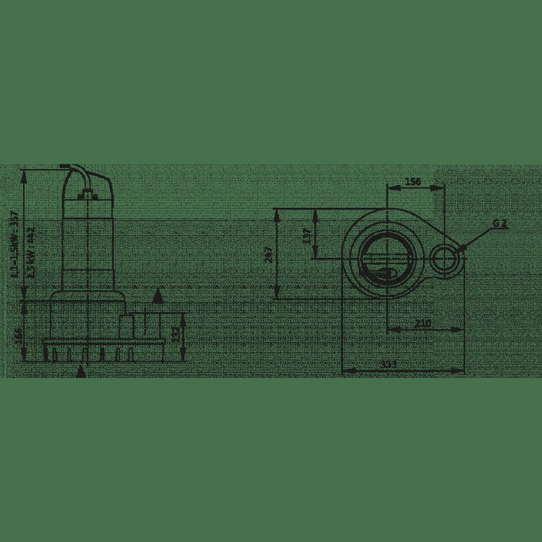 Погружной дренажный насос Wilo Padus UNI M05/M11-523/P