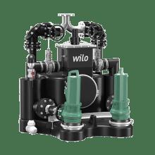 Стандартизированная напорная установка для отвода сточных вод с системой сепарации твердых веществ Wilo EMUport CORE 20.2-10A