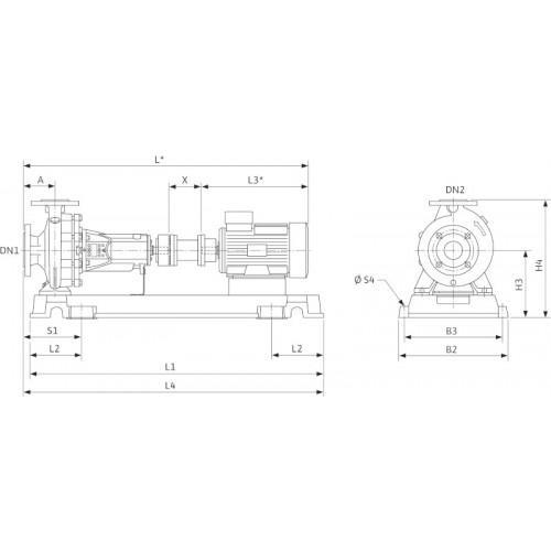 Насос с сухим ротором Wilo CronoNorm-NL 100/250-11/4