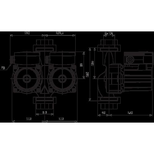 Циркуляционный насос Standard Wilo TOP-SD 30/5 EM PN6/10