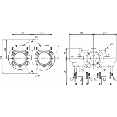 Циркуляционный насос Standard Wilo TOP-SD 65/15 DM PN6/10
