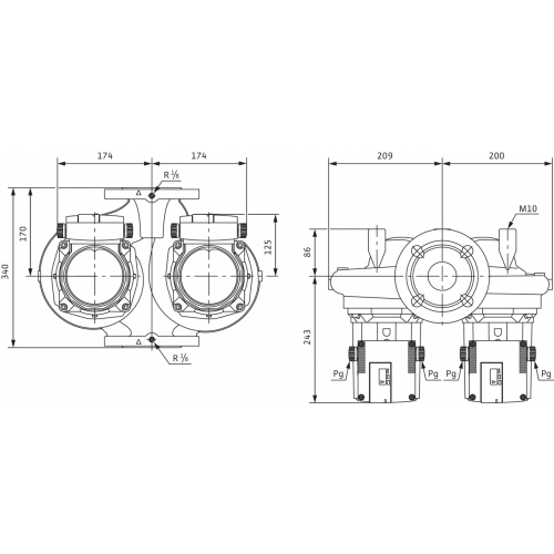 Циркуляционный насос Standard Wilo TOP-SD 50/15 DM PN6/10