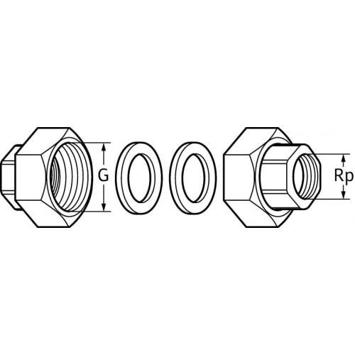 Циркуляционный насос Wilo Atmos PICO 15/1-6 + гайки в подарок!