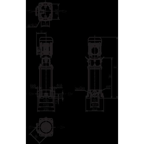 Вертикальный многоступенчатый насос Wilo Helix FIRST V 412-5/16/E/S/