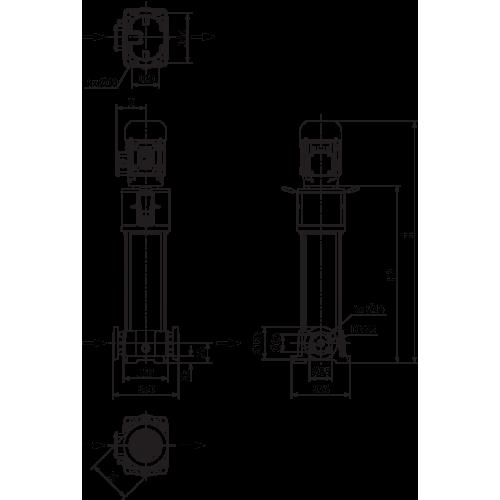 Вертикальный многоступенчатый насос Wilo Helix FIRST V 420-5/25/E/KS/