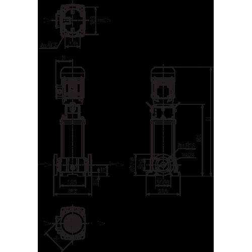 Вертикальный многоступенчатый насос Wilo Helix FIRST V 614-5/25/E/S/