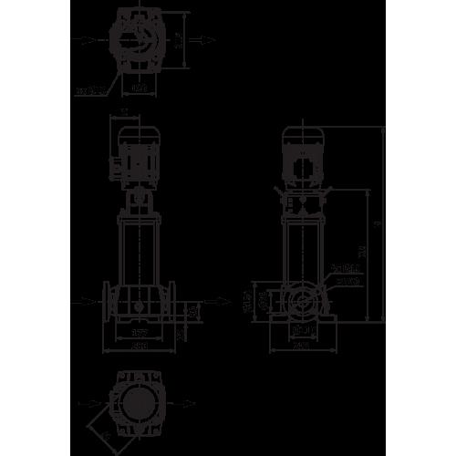 Вертикальный многоступенчатый насос Wilo Helix FIRST V 1001-5/25/E/S/