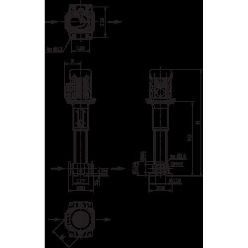 Вертикальный многоступенчатый насос  Wilo HELIX FIRST V 1015-5/25/E/KS/400-50 PN25