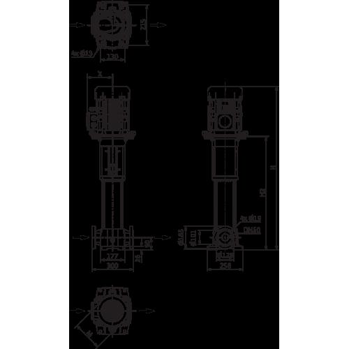 Вертикальный многоступенчатый насос Wilo Helix FIRST V 1609-5/25/E/KS/