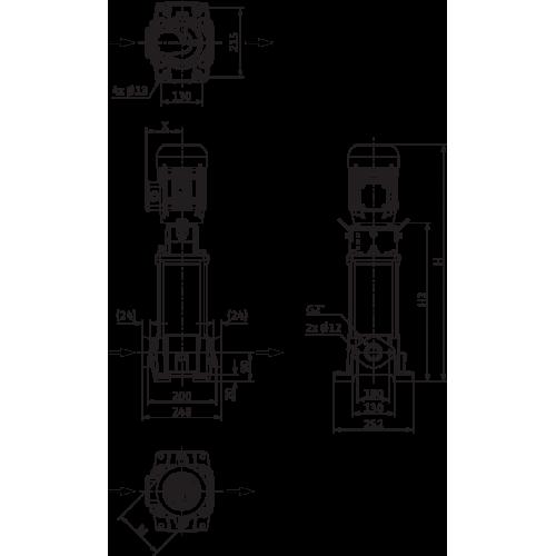 Вертикальный многоступенчатый насос Wilo Helix FIRST V 1606-5/16/E/S/