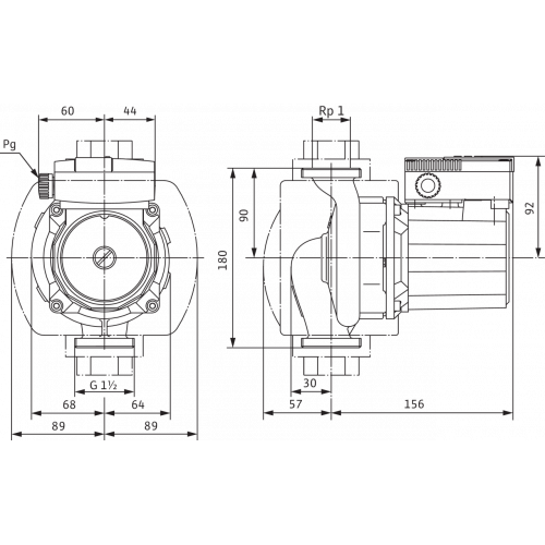 Циркуляционный насос Wilo TOP-S 25/13 (3~400/230 V, PN 10)