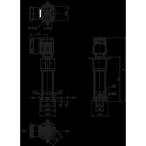 Вертикальный многоступенчатый насос Wilo Helix VE 204-1/16/E/S