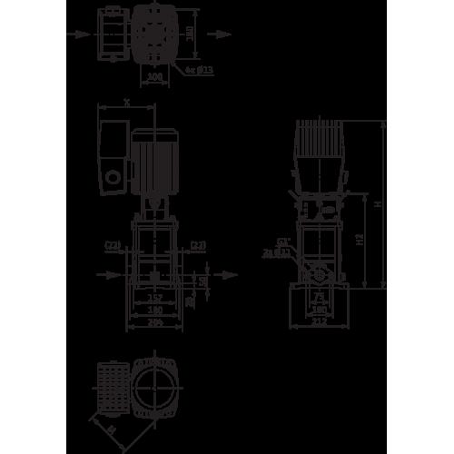 Вертикальный многоступенчатый насос Wilo Helix VE 405 M2-1/16/E/S