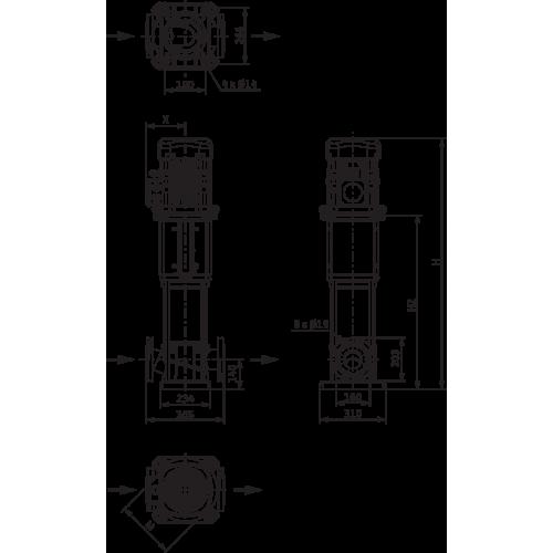 Вертикальный многоступенчатый насос Wilo Helix V 5208-1/25/E/KS