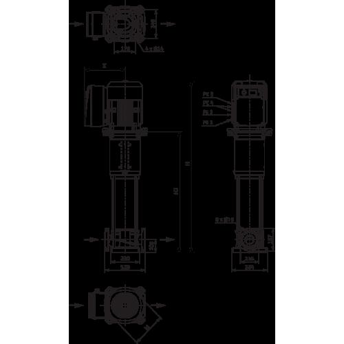 Вертикальный многоступенчатый насос Wilo Helix VE 3601-1/16/E/KS