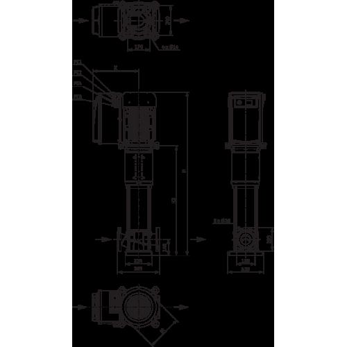Вертикальный многоступенчатый насос Wilo Helix VE 5204-1/16/E/KS