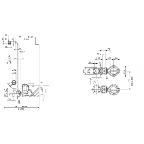 Погружной насос для сточных вод Wilo MTC40F16.15/7/3-400-50
