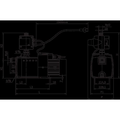 Насосная станция Wilo HiMulti 3 C 1-45 P