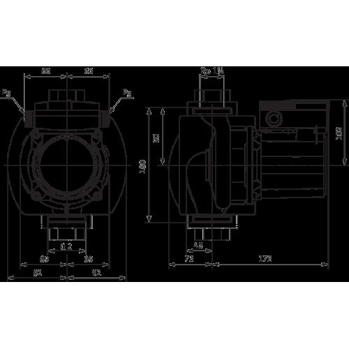 Циркуляционный насос Wilo TOP-S 30/10 (1~230 V, PN 10)