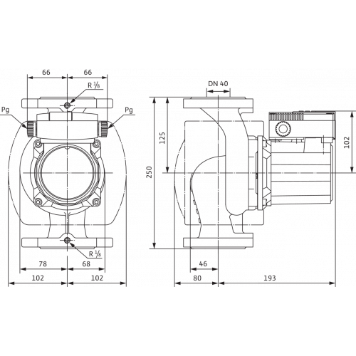 Циркуляционный насос Wilo TOP-S 40/7 (1~230 V, PN 6/10)