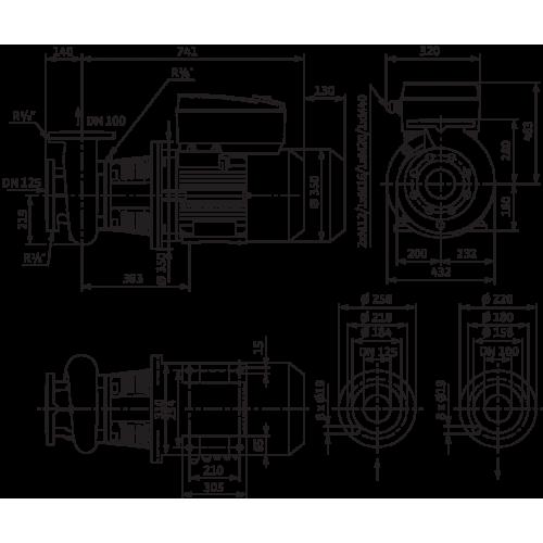Блочный насос Wilo CronoBloc-BL-E 100/250-11/4-R1
