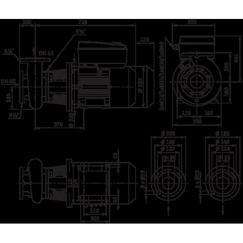 Блочный насос Wilo CronoBloc-BL-E 65/160-11/2-R1