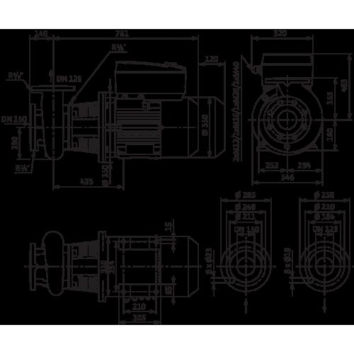 Блочный насос Wilo CronoBloc-BL-E 125/245-15/4-R1