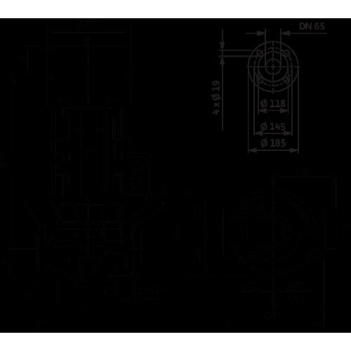 Циркуляционный насос с сухим ротором в исполнении Inline с фланцевым соединением Wilo VeroLine-IPL 65/165-5,5/2