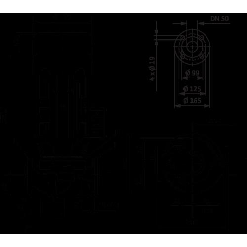 Циркуляционный насос с сухим ротором в исполнении Inline с фланцевым соединением Wilo VeroLine-IPL 50/120-1,5/2