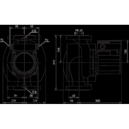 Циркуляционный насос Wilo TOP-S 50/4 (3~400/230 V, PN 6/10)
