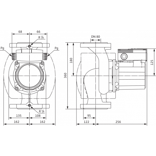 Циркуляционный насос Wilo TOP-S 80/10 (3~400/230 V, PN 6)