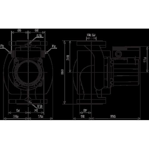 Циркуляционный насос Wilo TOP-S 65/7 2-ЧАСТОТЫ ВРАЩЕНИЯ (1~230 V, PN 6/10)
