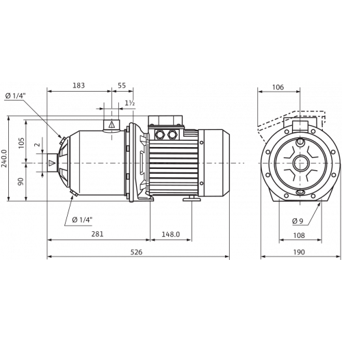 Центробежный насос  Wilo MHI 1604-1/E/3-400-50-2/IE3